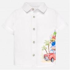 Mayoral-Риза къс ръкав със забавен принт
