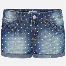 Mayoral-Къси дънкови панталони с щампа цветчета