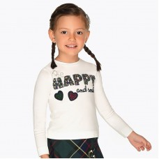 "Mayoral-Блуза с надпис ""HAPPY"""