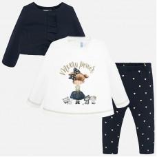 Mayoral-Комплект блуза ,клин и жилетка