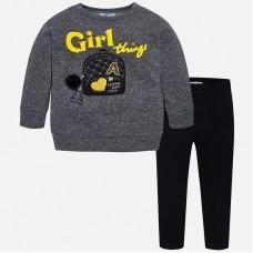 Mayoral-Комплект клин и блуза с апликация раница