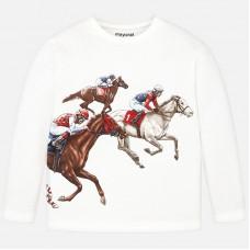 Mayoral-Блуза с принт конно състезание