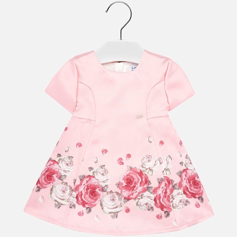 Mayoral-Официална рокля с щампа рози
