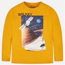 Mayoral-Блуза дълъг ръкав с принт и надпис  galaxy