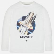 Mayoral-Блуза дълъг ръкав с принт и надпис  gravity