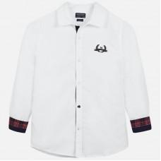 Mayoral-Риза  дълъг ръкав с бродерия лого