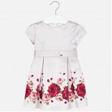 Mayoral-Елегантна рокля от тафта с принт рози