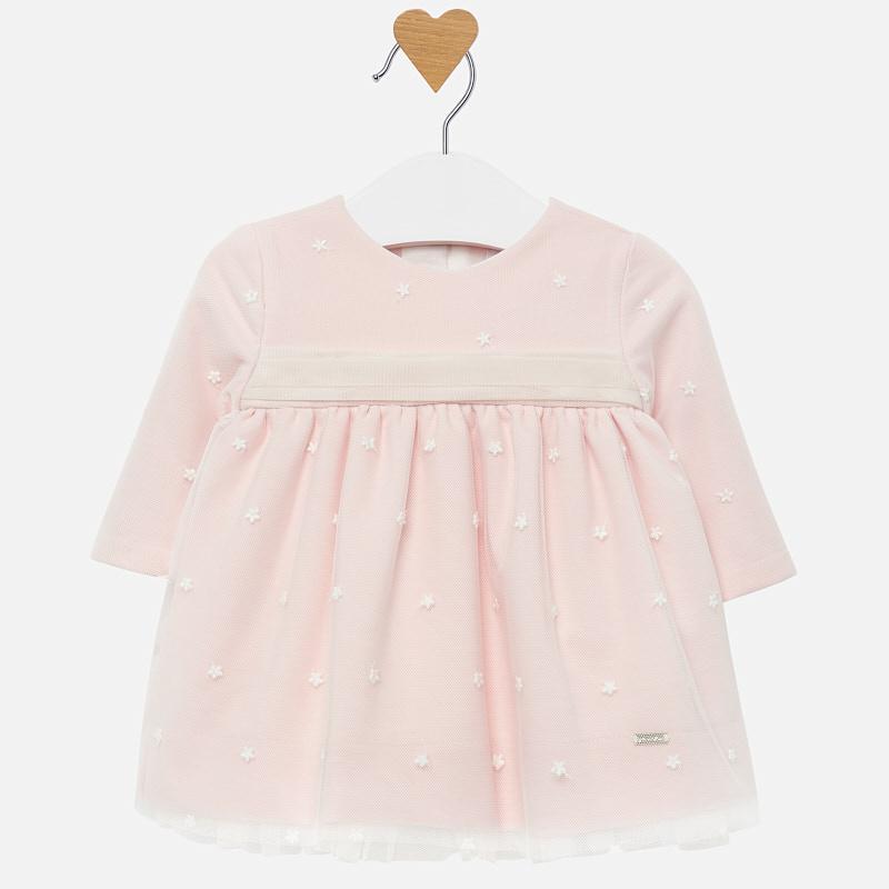 Mayoral-Бебешка рокля от тюл с бродерия