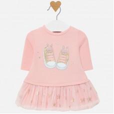 Mayoral-Бебешка рокля с принт кецове