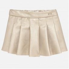 Mayoral-кожена пола с плисета