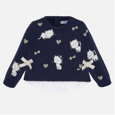Mayoral-Пуловер с котенца