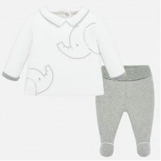 Mayoral-Бебешки комплект с бродерия слонче