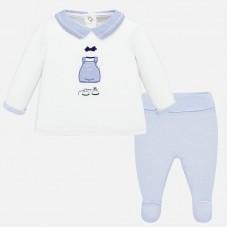 Mayoral-Бебешки комплект с бродерия