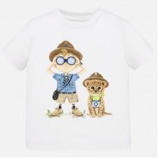 Mayoral-Тениска за момче с весел принт изследовател