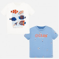 Mayoral-Тениска за момче с малки щампи и надпис OCEAN