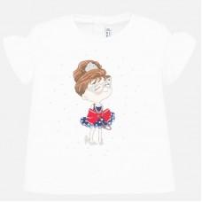 Mayoral-Блуза с принт кукла с панделка