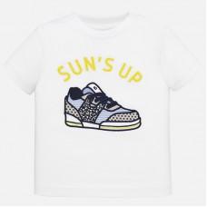 Mayoral-Тениска с къс ръкав и декорация цветна маратонка