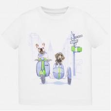Mayoral-Тениска с къс ръкав и забавен принт