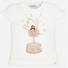 Mayoral-Блуза с къдрички и принт балерина