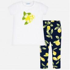 Mayoral-Комплект  блуза и клин с принт лимони