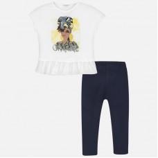 Mayoral-Комплект  тениска и клин с принт момиче