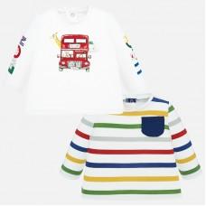 Mayoral-Бебешка блузка  цветно рае с джобче