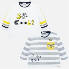 Mayoral-Бебешка блузка сиво рае с джобче