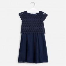 Mayoral-Комбинирана рокля с рязана дантела