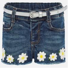 Mayoral-Къси дънкови панталони с апликация цветя