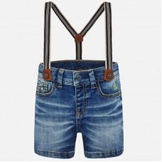 Mayoral-Къси дънкови панталони с тиранти