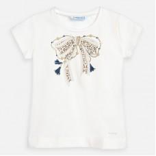 Mayoral-Блуза къс ръкав с принт панделка