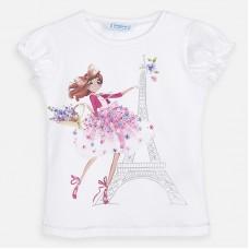 Mayoral-Блуза къс ръкав с цветен принт момиче