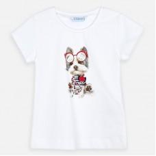 Mayoral-Блуза къс ръкав с щампа кученце