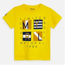 Mayoral-Тениска къс ръкав с декоративна апликация логото на MAYORAL