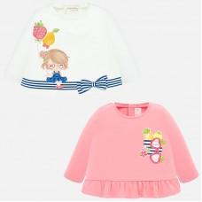 Mayoral-Бебешка блуза с джоб и плодове