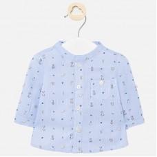 Mayoral-Бебешка риза с джоб и принт кученце