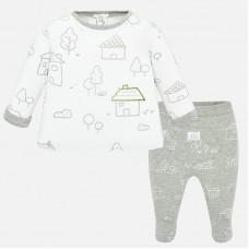 Mayoral-Бебешки комплект с ританки и рисунки с детски мотиви.