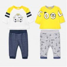 Mayoral-Бебешки комплекти от две части с принт кола и надпис COOL