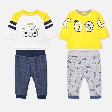 Mayoral-Бебешки комплект от две части с надпис COOL