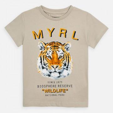 Mayoral-Тениска къс ръкав с щампа тигър NATIONAL PARK