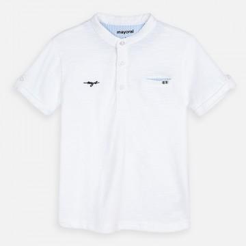 Mayoral-Тениска с къс ръкав с контрастни детайли
