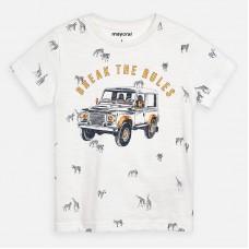 Mayoral-Тениска  къс ръкав с цветен принт кола