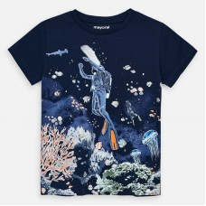 Mayoral-Тениска  къс ръкав с цветна щампа водолаз