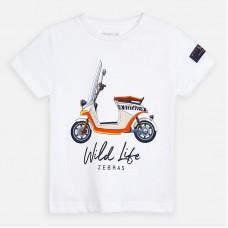 Mayoral-Тениска  къс ръкав с цветна щампа мотор