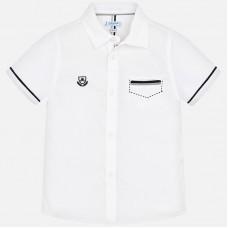 Mayoral-Официална риза с къс ръкав с контростни детайли