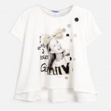 Mayoral-Тениска  къс ръкав с принт момиче