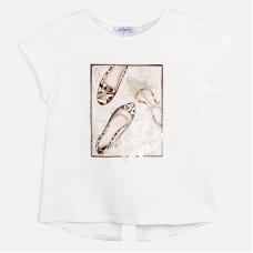 Mayoral-Тениска  къс ръкав с принт обувки
