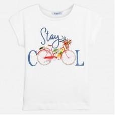 Mayoral-Тениска  къс ръкав с принт цветно колело