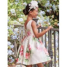 Mayoral-Официална рокля с щампа цветя