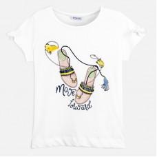 Mayoral-Тениска  къс ръкав с принт модерни сандали